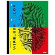 Caderno universit�rio c/ 96fls coladas Wireless color 57617 Spiral PT 1 UN