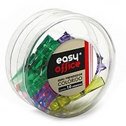 Mini prendedor de papel colorido 305005 Easy Office CX 10 UN