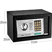 Cofre eletrônico digital 20x20x31cm OR38100 Ordene