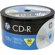 Cd-r gravável (80min/700mb)52x pack Hp PT 50 UN