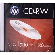 Cdr-w regravável (80min/700mb)12x slim Hp CX 1 UN
