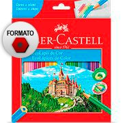 L�pis de Cor 24 cores sextavado 120124G Faber Castell