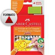 L�pis de Cor 12 cores Jumbo triangular 12.3012AP Faber Castell