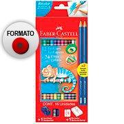 Lápis de Cor 24 cores redondo (12 bicolor) 120612+2N Faber Castell (389509)