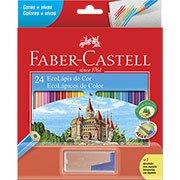 Lápis de Cor 24 cores sextavado c/ apontador 120124 Faber Castell (389519)