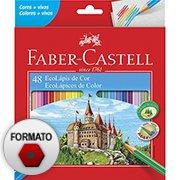 Lápis de Cor 48 cores sextavado 120148G Faber Castell