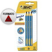 Lápis preto n.2 Evolution Kids triangular 902494 Bic BT 3 UN