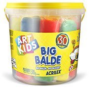 Massinha ArtKids Big Balde 30 massinhas sortidas 40023 Acrilex PO 1 UN