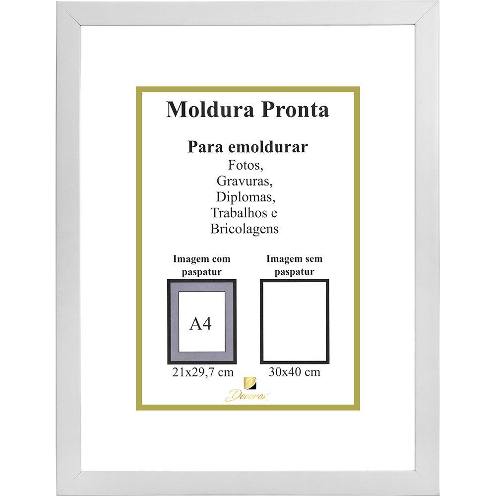 Porta Certificado Moldura 30x40 Branco Prl3040 Decorex Moveis