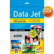 Papel fotográfico A4 220g glossy paper adesivo VD181-20 Data Jet PT 20 FL