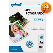 Papel fotográfico A4 180g glossy paper G180 - 20 Spiral
