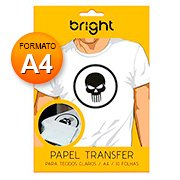 Papel transfer ink-jet p/tecidos claros (A4)  Bright