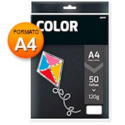 Papel 120g 210x297 color plus preto Spiral PT 50 FL
