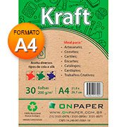 Papel Kraft A4 200g On Paper PT 30 FL