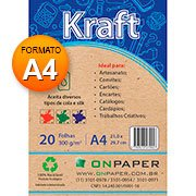Papel Kraft A4 300g On Paper PT 20 FL