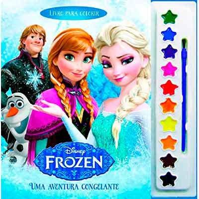 Livro Para Colorir Infantil Frozen C Aquarela Catavento Artes