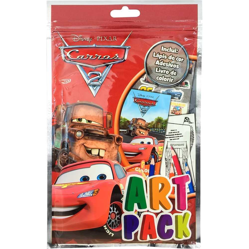 Livro Para Colorir Infantil Disney Artpack Carros 2 Catavento
