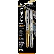 Pincel marcador permanente 1,1mm 2 cores metalicas 903936 Bic (616982)