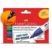 Pincel quadro branco c/4 cores OF/522ZF Faber Castell