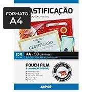 Plástico para plastificação 220x307x0,05 A4 02427 Spiral (629959)