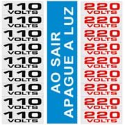 Placa p/sinaliz. etiqueta de voltagem 120AH Sinalize (630133)