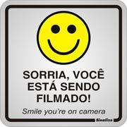 Placa p/sinaliz. 15x15 sorria está sendo filmado 120AQ Sinalize (630134)