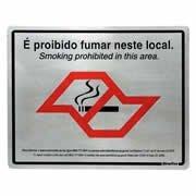 Placa p/sinaliz. 20x25 proibido fumar antifumo SP 180SP Sinalize (630142)