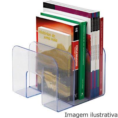 dd36e94206 Suporte p livros cristal transparente Waleu - Organização - Kalunga.com