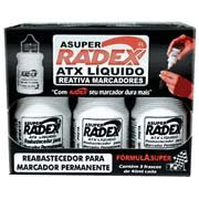 Reabastecedor p/pincel permanente 40ml preto Tonbras CX 3 UN