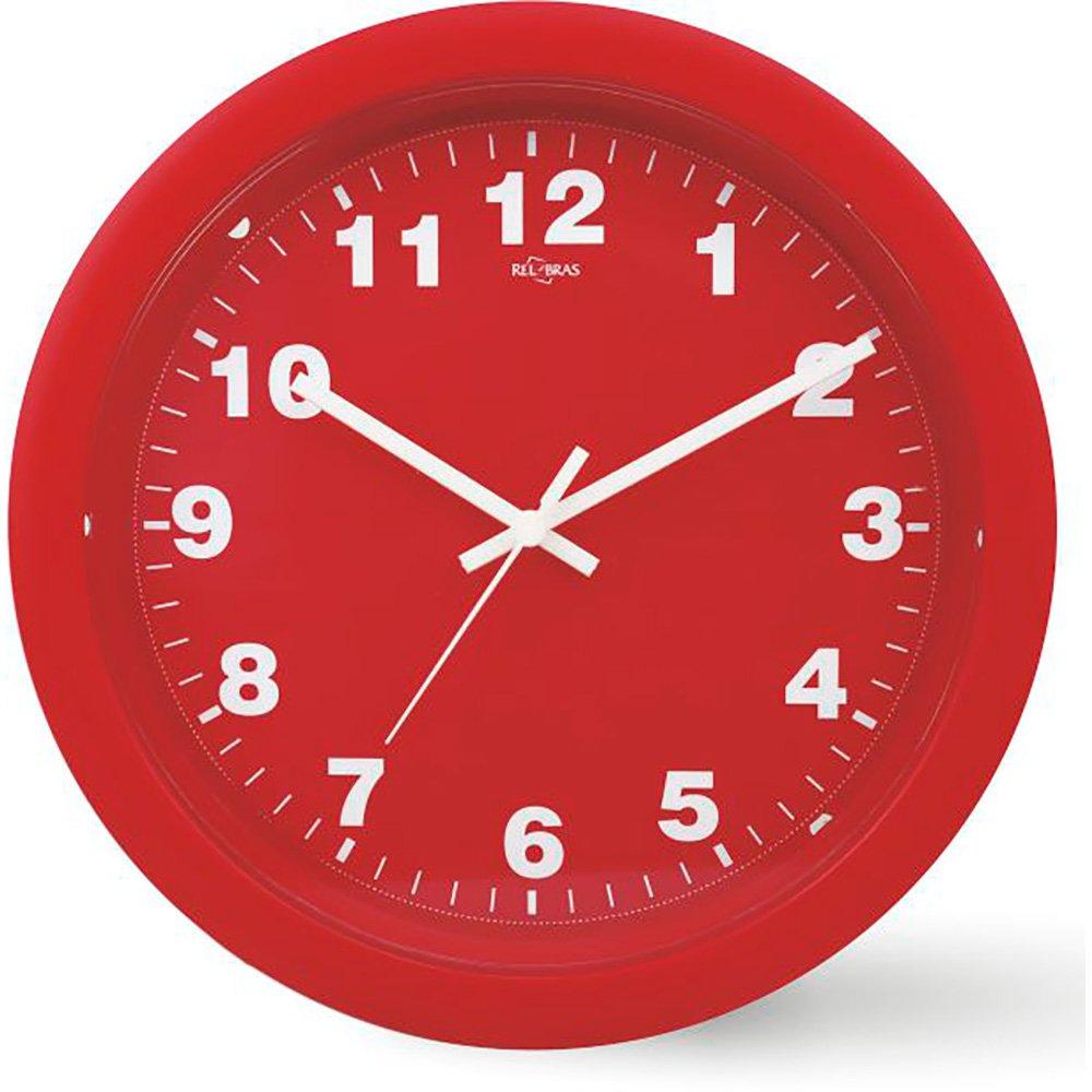 bf0f3f09c58 Relógio de Parede 30cm quartz vermelho 1084 Art Uni - Móveis ...