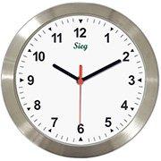 Relógio de Parede 27cm aluminio 3000-11 Sieg