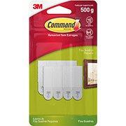 Fecho Adesivo para Quadros 3M Command Branco - Tamanho Pequeno