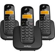 Telefone s / fio Dect 6.0 c / id preto + 2 ramais TS3113 Intelbras