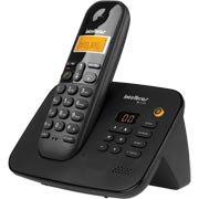 Telefone s / fio Dect 6.0 c / id e secretaria preto TS3130 Intelbras