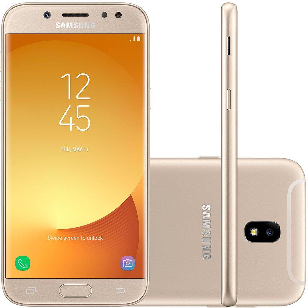 Smartphone Galaxy J5 Pro J530g, Android 7.0, Câmera Traseira e Frontal 13mp, Memória Interna de 32gb, Tela de 5.2, Dourado - Samsung Cx 1 Un