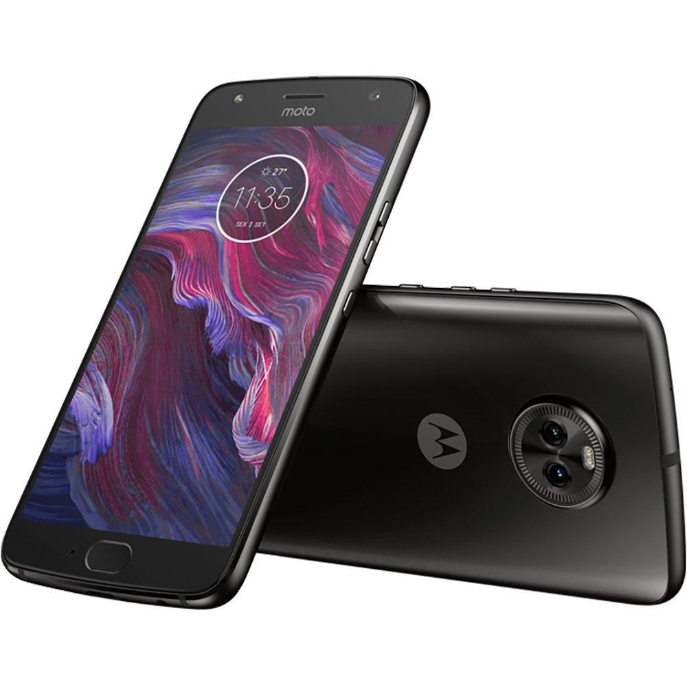Smartphone Moto X4 Xt1900 Dual Chip, Câmera Frontal 16mp, Câmera Traseira 12mp, Android 7.1, Memória Interna de 32gb, Tela de 5.2, Preto - Motorola Cx 1 Un