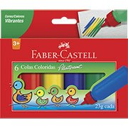 Cola colorida 23g c/6 cores HT170106 Faber Castell (733060)