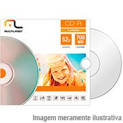 Cd-r gravável (80min/700mb)52x envelope CD006 Multilaser PT 1 UN