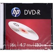 Dvd -r gravável 4.7gb 120min 16x slim Hp CX 1 UN