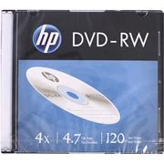 Dvd -rw regravável 4.7gb 120min 4x slim Hp CX 1 UN