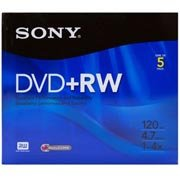 Dvd+rw regravável 4.7gb 120min 4x Sony PT 1 UN