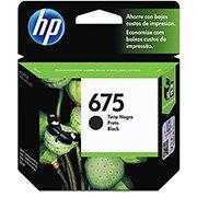 Cartucho HP 675 Preto Original (CN690AL) Para HP Officejet 4400, 4000,4575 CX 1 UN