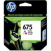 Cartucho HP 675 Colorido Original (CN691AL) Para HP Officejet 4400, 4000,4575 CX 1 UN