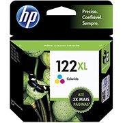 Cartucho HP 122XL Colorido Original (CH564HB) Para HP DeskJet 1000, 2050, 3050, 2000 CX 1 UN