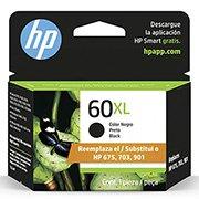Cartucho HP 60XL preto Original (CC641WB) Para HP Deskjet F4224, F4480, F4580, D1660, Photosmart D110a, C4780, ENVY D410a CX 1 UN
