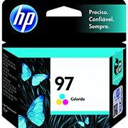 Cartucho HP 97 Colorido Original (C9363WL) Para HP Officejet H470wbt, 100, Photosmart 8150xi, PSC 1610v, 2350 CX 1 UN