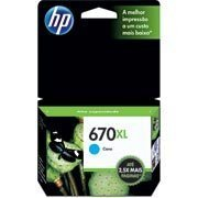 Cartucho HP 670XL Cian Original (CZ118AB) Para HP Deskjet 4615, 4625,  5525 CX 1 UN