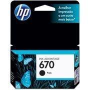 Cartucho HP 670 preto Original (CZ113AB) Para HP Deskjet 4615, 4625, 5525 CX 1 UN