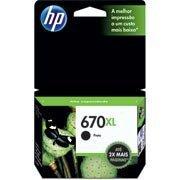 Cartucho HP 670XL preto Original (CZ117AB) Para HP Deskjet 4615, 4625,  5525 CX 1 UN