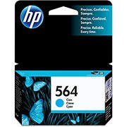 Cartucho HP 564 Cian Original (CB318WL) Para HP Photosmart C309g, B210a, C5324, Deskjet 3526, Officejet 4622, 4620 CX 1 UN